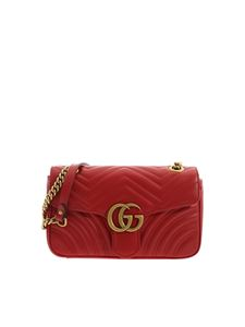 Gucci - GG Marmont shoulder bag in red
