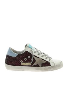 Golden Goose - Superstar white sneakers with purple glitter
