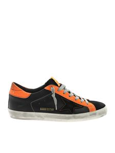 Golden Goose - Neon details sneakers in black