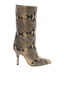 Paris Texas - Snake print boot in beige