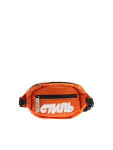 Heron Preston - White logo belt bag in orange
