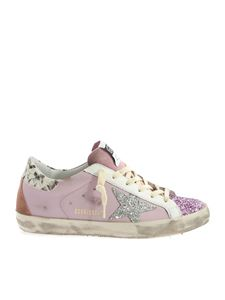 Golden Goose - Sneakers Superstar rosa con strass