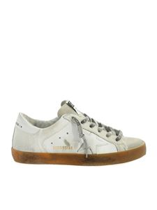 Golden Goose - Superstar white sneakers with calf hair detail