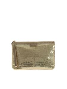 Lancaster Paris - Sequins clutch bag in gold color