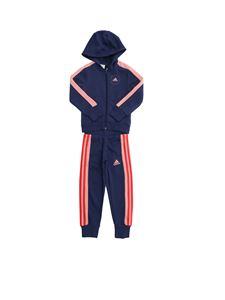 Adidas - Hoodie tracksuit in blue and pink