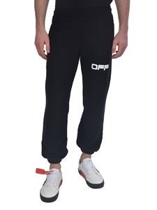 Off-White - Pantalone Airport Tape nero