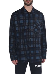Off-White - Flannel Check LS shirt in blue