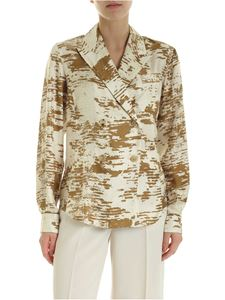 Max Mara - Eris shirt in ivory and ocher color