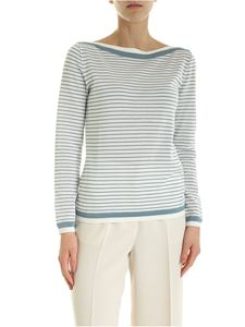Max Mara - Ugolina sweater in white and pale blue color