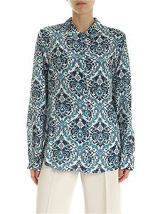 Max Mara Weekend - Uguale silk shirt in white and blue