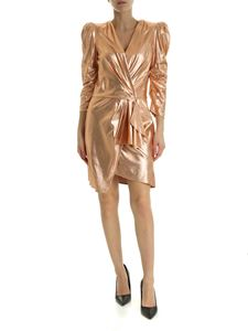 Elisabetta Franchi - Short dress in Phard color with balloon sleeves
