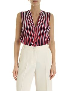 Elisabetta Franchi - Body in blue red and white jersey