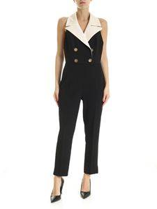 Elisabetta Franchi - Jumpsuit with open back in black
