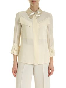 Elisabetta Franchi - Shirt in cream-colored with lamè detail