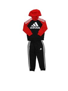 Adidas - French Terry sweatshirt and pants in black and red