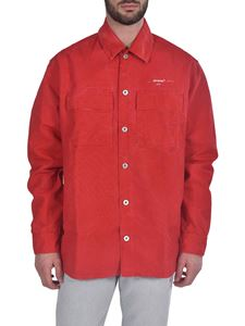 Off-White - Arrow Over Denim shirt in red