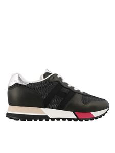 Hogan - Sneakers H383 Retro Running in pelle
