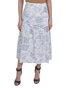 Kenzo - Wave Mermaid skirt in white