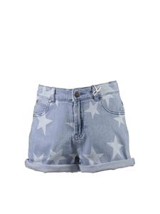 Stella McCartney Kids - Shorts in denim con stelle