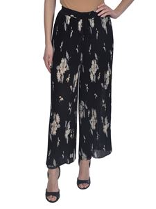 Etro - Floral print pleated pants in black