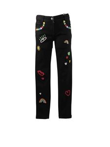 Stella McCartney Kids - Black jeans with decorations