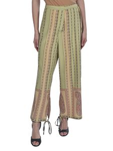 Etro - Paisley pattern silk pants in green