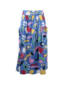 Stella McCartney Kids - Gonna blu stampata