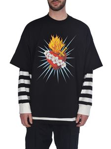 Palm Angels - Sacred Heart Layered T-shirt in black