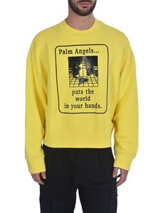Palm Angels - World In Hands sweatshirt in yellow
