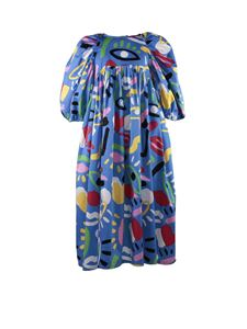 Stella McCartney Kids - Abito blu stampato