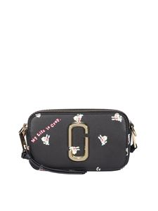 Marc Jacobs  - The Snapshot printed camera bag in black
