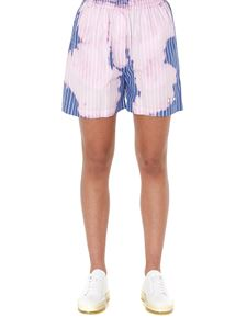 MSGM - Faded effect striped shorts