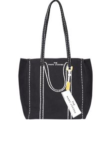 Marc Jacobs  - The Trompe l'Oeil Tag canvas tote in black