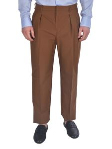 Valentino - Double pleats pants in brown