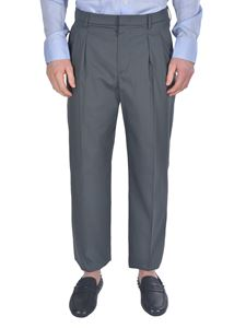 Valentino - Double pinces pants in grey
