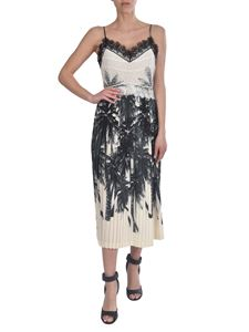 Ermanno Scervino - Lace detail silk dress in ivory and black