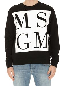 MSGM - Maxi logo sweatshirt in black