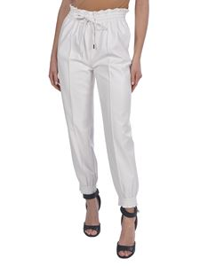 Ermanno Scervino - Faux leather jogging pants in white