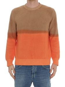 MSGM - Two-tone faded effect sweater in brown and orange