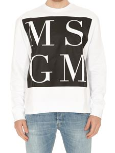 MSGM - Maxi logo sweatshirt in white