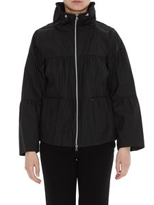 Herno - Flared flounced jacket in black