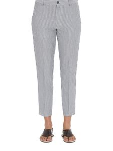 Dondup - Rothka striped cropped pants in blue
