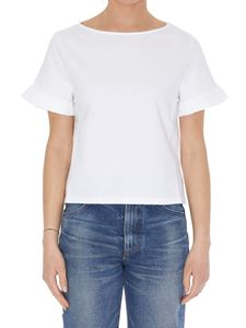 Dondup - Pleated cuffs T-shirt in white