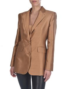 Max Mara - Omar single-breasted jacket in camel color