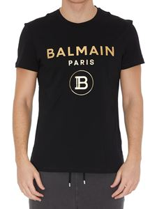 Balmain - Golden logo cotton T-shirt