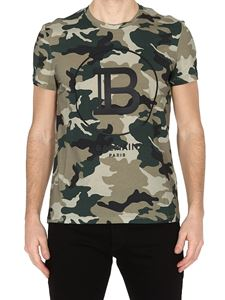 Balmain - Camouflage T-shirt in green