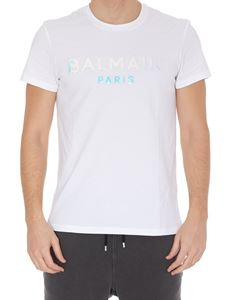 Balmain - Iridescent logo cotton T-shirt