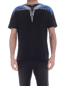 Marcelo Burlon County Of Milan - Wings T-shirt in black and blue