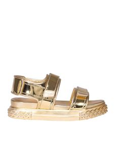Giuseppe Zanotti - Laminated sandals with straps
