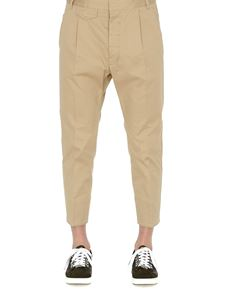 Dsquared2 - Pantaloni crop in twill di cotone